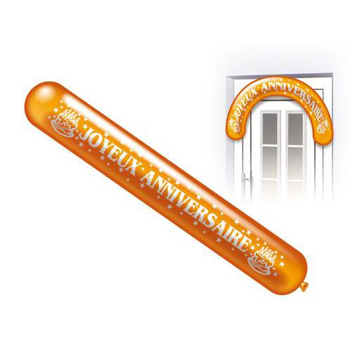 Lot de 2 saucisses Joyeux Anniversaire - Latex - 150 cm - Multicolore