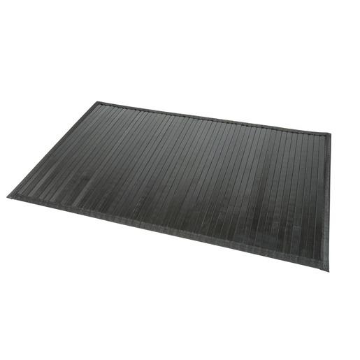 Tapis de bain en bambou, dessous anti-glisse - 50 x 80 cm - Noir ...