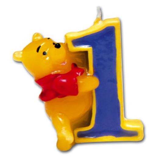Bougie Winnie N 1 En Cire Multicolore Anniversaire La