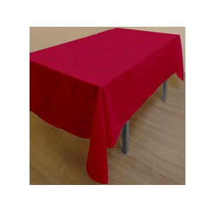 Nappe rectangulaire collection Espace - 140 x 240 cm - Rouge