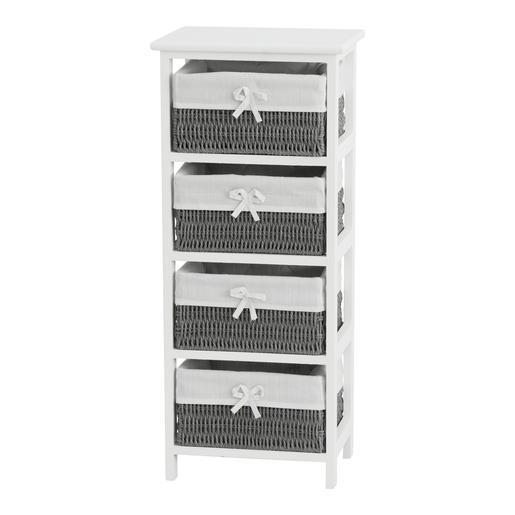 meuble 4 tiroirs - 34 x 25 x h 78 cm - meubles salle de bain | la