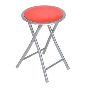 Tabouret rond - Rouge