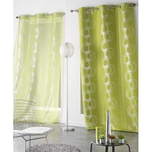 Rideau occultant - 100 % polyester - 140 x 240 cm - Vert