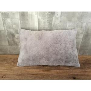 Coussin Shaggy - 100 % polyester - 50 x 30 cm - Gris