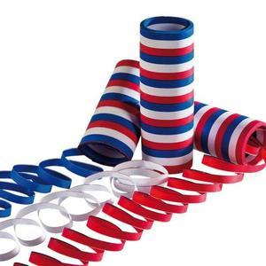 3 rouleaux de serpentins France - Bleu, Blanc, Rouge