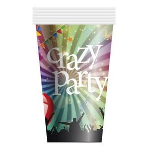 6 gobelets en carton Crazy Party