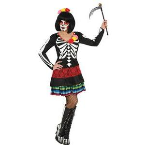 Déguisement Day of the Dead - 100 % Polyester - Taille adulte - Multicolore
