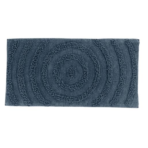 Tapis Blanc Gris Bleu - Accessoires salle de bain | La Foir\'Fouille