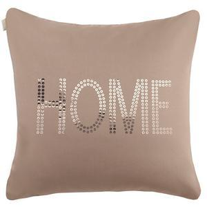 Coussin Home - 100% polyester - 40 x 40 cm - Taupe