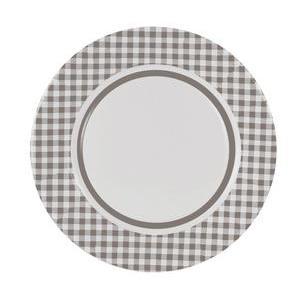 Lot de 10 assiettes en carton - diamètre 23 cm - marron taupe