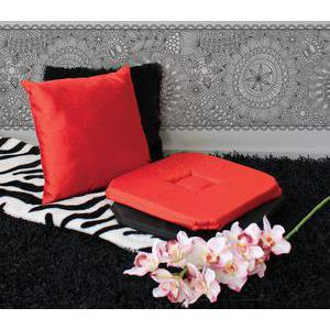 Coussin imitation Shantoung - 100% polyester - 40 x 40 cm - Rouge
