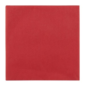 Lot de 12 serviettes voie sèche - 40 x 40 cm - Rouge