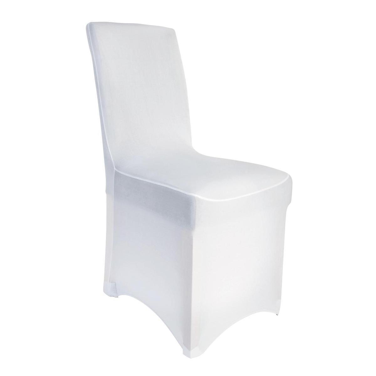 Housse de chaise extensible - Blanc - Housse de chaise  La Foir