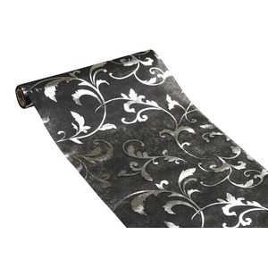 Chemin de table en organza - 0,30 x 5 m - Noir