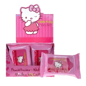 Lingettes Hello Kitty - Rose