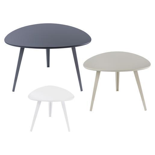 Table gigogne gris blanc meubles de salon la foir 39 fouille - Table gigogne metal ...