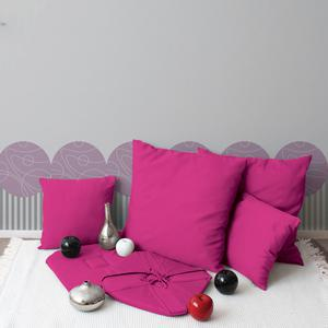 Coussin - 100% polyester - 60 x 60 cm - Rose