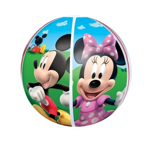 Ballon de plage décor Mickey - Diamètre 51 cm - Multicolore