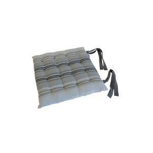 Galette De Chaise Rayures 100 Coton