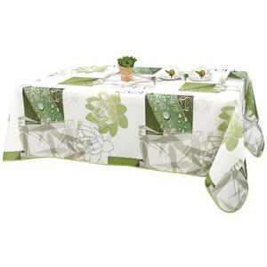 Nappe rectangulaire - Polyester - 145 x 240 cm - Vert