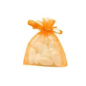10 petits pochonss refermables - 8 x 10 cm - Organza - Orange