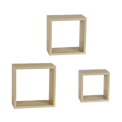 etageres murales cube bois