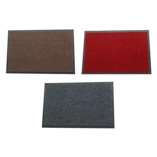 Tapis - Polyester Vinyle - Rouge Marron Gris - Tapis déco | La Foir ...