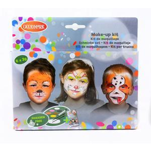 Kit de maquillage animal + livret - Multicolore