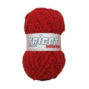 Pelote Douceur - 100% polyester - 50 g - Rouge