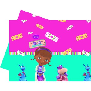 Nappe Doc Mc Stuffins en plastique - 120 x 180 cm - Multicolore