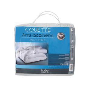 Couette anti-acariens - 100 % polyester - 140 x 200 cm - Blanc