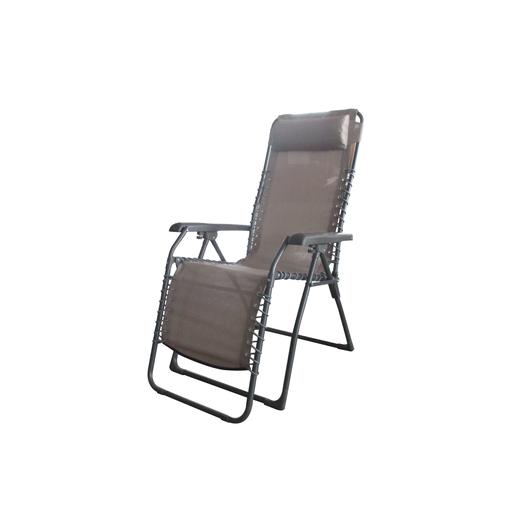 fauteuil relax quito acier et textilne 65 x 91 x h 116 cm - Chaise Longue Relax