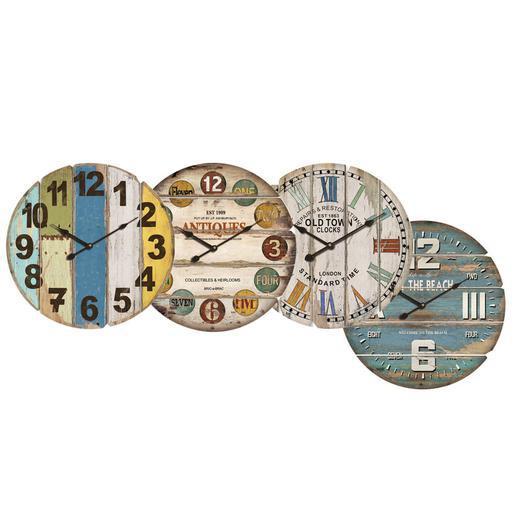 Pendule mdf 58 cm multicolore horloges murales for Aspirateur piscine hors sol la foir fouille