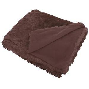 Plaid polaire - 100% polyester - 125 x 150 cm - Marron