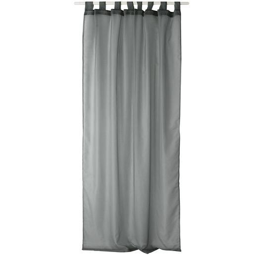 Voilage - 100% polyester - 145 x 240 cm - Gris