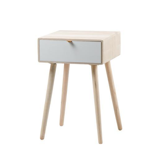 Table de chevet scandinave h 60 cm meubles de salon for Table exterieur la foir fouille