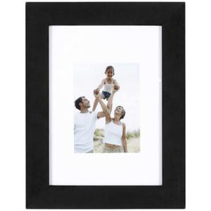 Porte-photo Optimo noir et MDF - 19 x 14 cm - Noir