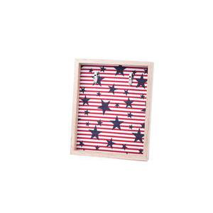 Support à bijoux USA - MDF - 21,8 x 3,3 x H 26,8 cm - Multicolore