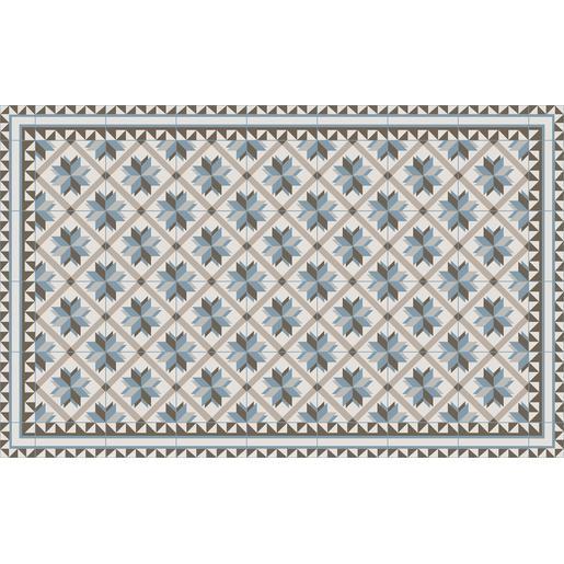 Tapis vinyle - 50 x 80 cm - Bleu et marron - Tapis déco | La ...