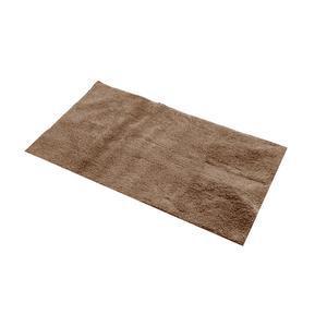 tapis de bain en coton 45 x 75 cm marron taupe - Caillebotis Teck Salle De Bain