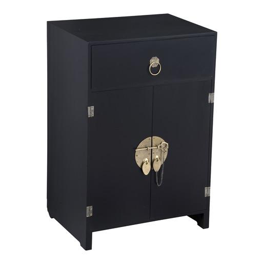 meuble bas zen avec 2 portes et 1 tiroir 40 x 30 x 60 cm
