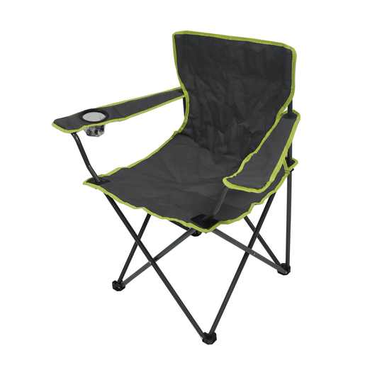 Chaise De Camping Avec Porte Verre 50 X H 82 X 50 Cm Gris