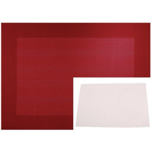 Set de table - PVC - 30 x 45 cm - Blanc ivoire
