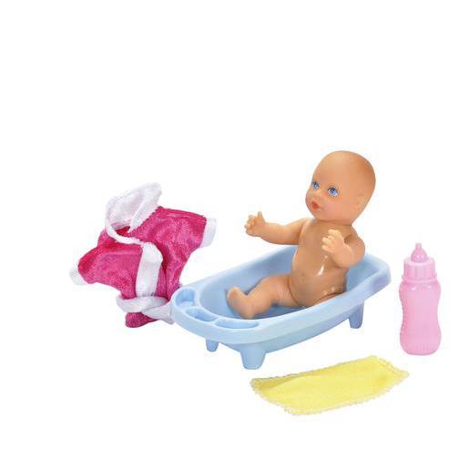 82f437e7dd0c Bébé + baignoire + accessoires en polyester et polypropylène - Rose ...