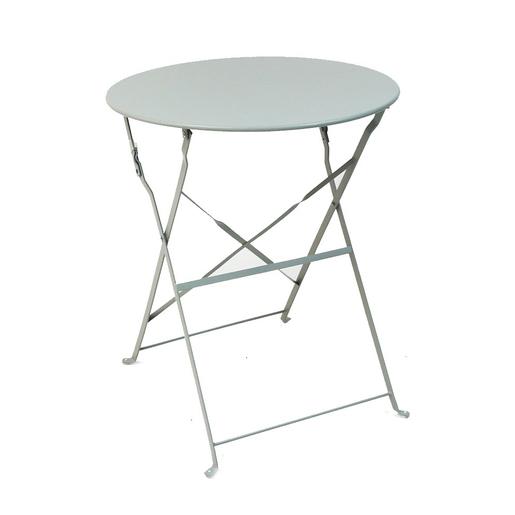 Table Diana ronde - Greige - Salon de jardin   La Foir\'Fouille