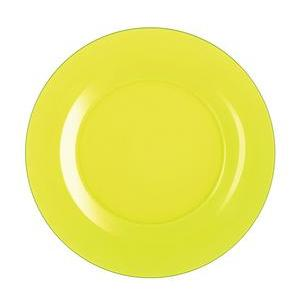 Assiette Techno Colors - Verre - Ø 25 cm - Jaune