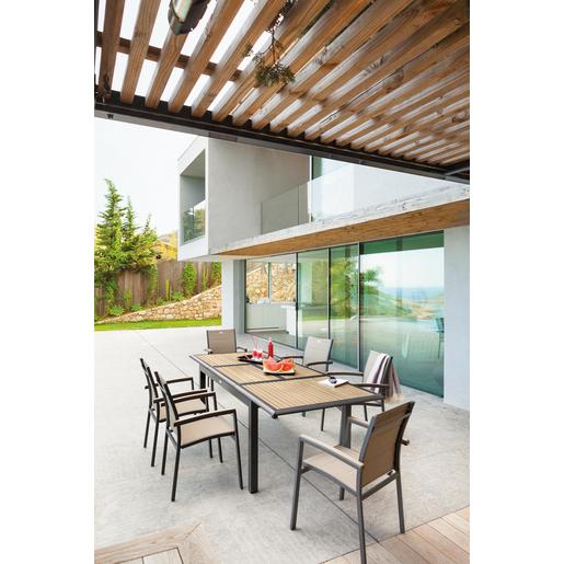 Table Azua - Marron - Mobilier de jardin | La Foir\'Fouille