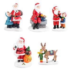 Figurine pour village de Noël - 5 assortiments