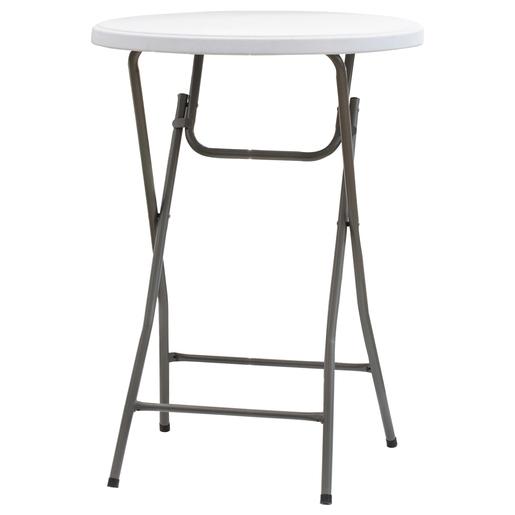 Table Mange Debout Pliante O 80 X H 110 Cm Blanc Moorea Plein Air La Foir Fouille