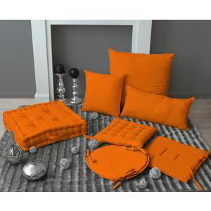 Galette de chaise - coton - 40 x 40 cm - Orange